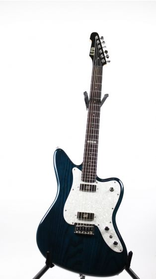ESP LTD XJ-6 See Thru Blue Sample/Prototype Electric Guitar, LXJ6STB