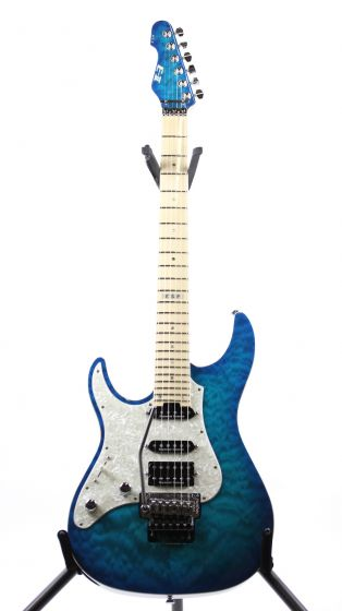 ESP E-II ST-1 QM Quilted Maple Aqua Marine Left Handed Electric Guitar, EIIST1QMMAQMLH