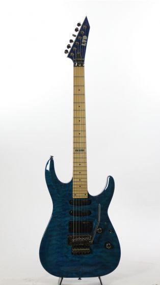 ESP LTD MH-103QM HSS STB See Thru Blue Electric Guitar Sample/Prototype, LMH103QMSTB