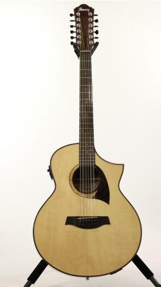 Ibanez AEW2212CD NT Natural High Gloss Acoustic Electric Guitar, AEW2212CDNT