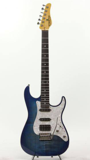 Schecter USA Sunset Custom Custom Shop Trans Sky Blue Electric Guitar, 6998