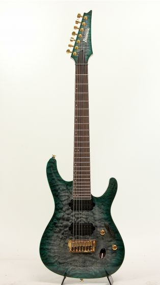 Ibanez S5527QFX DGD Dark Green Doom Burst 7 String Electric Guitar[, S5527QFXDGD]