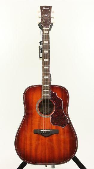 Ibanez AVD4 VMS Vintage Mahogany Sunburst High Gloss Acoustic Guitar, AVD4VMS