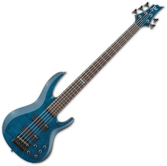 ESP LTD B-155DX Bass in See-Through Blue B-Stock, LB155DXSTB.B