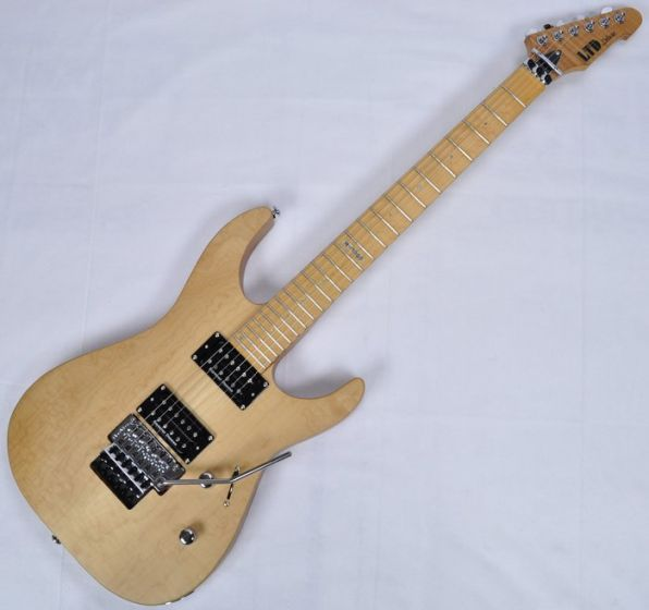 ESP LTD Deluxe M-1000SE Electric Guitar in Vintage Natural Satin, LTD M-1000SE