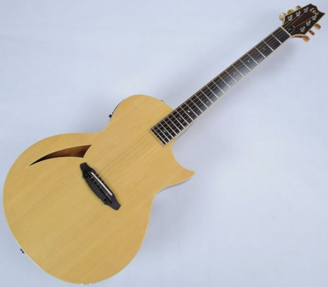 ESP LTD TL-6 Steel String Demo Acoustic Electric Guitar in Natural with Case, LTD TL-6S NAT Demo