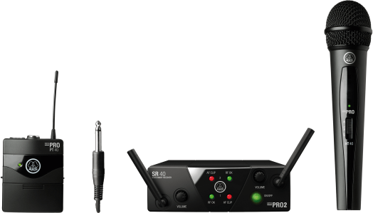 AKG WMS40 Mini Dual Vocal Instrumental Set - Channels A/B, 3352X00050