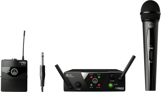 AKG WMS40 Mini Dual Vocal Instrumental Set - Channels C/D, 3352X00060
