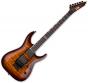 ESP LTD MH-401FR Quilted Maple Electric Guitar Dark Brown Sunburst, LMH401FRQMDBSB