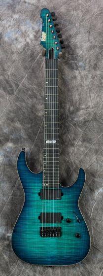 ESP USA M-7 Flamed Maple Electric Guitar in Aqua Marine Sunburst, EUSM7HTFMAQMSBE