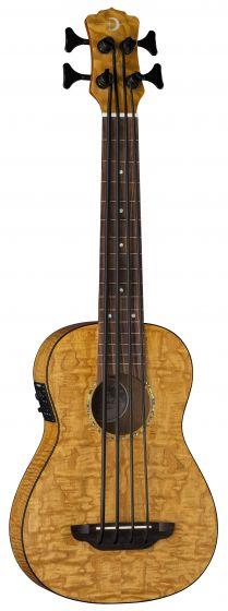 Luna Bari-Bass w/Preamp & Gigbag Quilt Top UKE BBASS QA, UKE BBASS QA