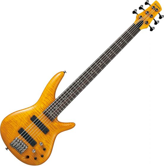 Ibanez Gerald Veasley Signature GVB1006 6 String Electric Bass Amber, GVB1006AM