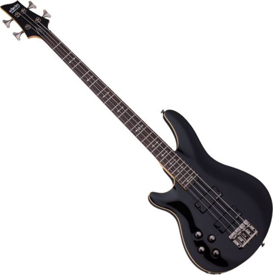 Schecter Omen-4 Left-Handed Electric Bass in Gloss Black Finish, 2092