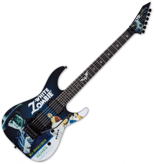 ESP LTD Kirk Hammett White Zombie KH-WZ Signature Electric Guitar Black, LKHWZ
