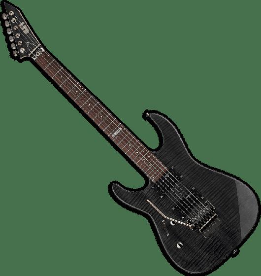 ESP LTD M-100FM Left Handed Electric Guitar in See-Through Black, M-100FM STBLK LH