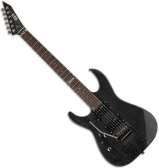 ESP LTD M-100FM Left Handed Electric Guitar in See-Through Black B-Stock, M-100FM STBLK LH
