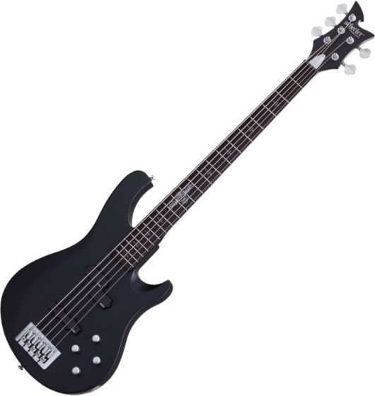 Schecter Johnny Christ-5 Bass Signature 5-String Electric Bass Satin Black, 278