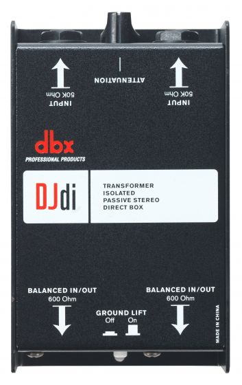 dbx DJD1 2-Channel Passive Direct Box, DBXDJDI