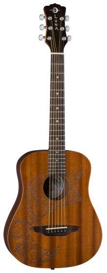 Luna Safari Tattoo Travel Guitar w/Gigbag SAF TATTOO, SAF TATTOO