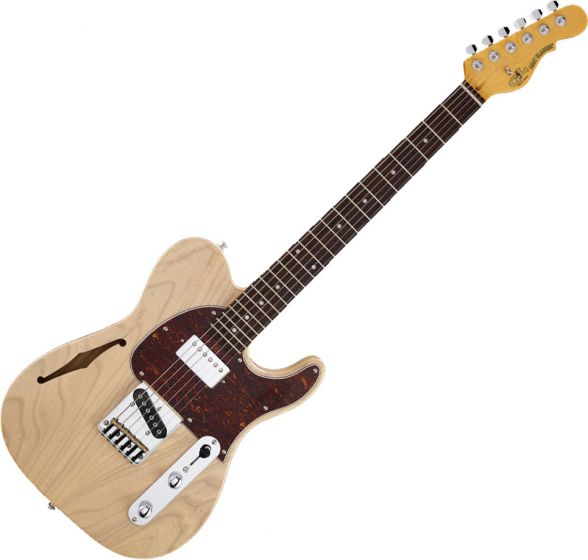 G&L Tribute ASAT Classic Bluesboy Semi-Hollow Electric Guitar Blonde, TI-ACB-S24R37R43