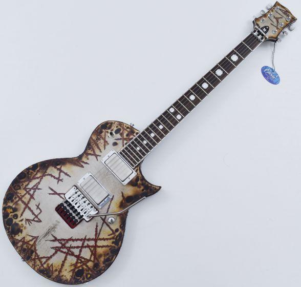 ESP E-II Richard Z RZK-II Burnt Electric Guitar with Case, E-II RZK-II