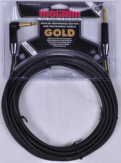 Mogami Gold Instrument R Cable 25 ft.[, Gold-Instrument-25R]