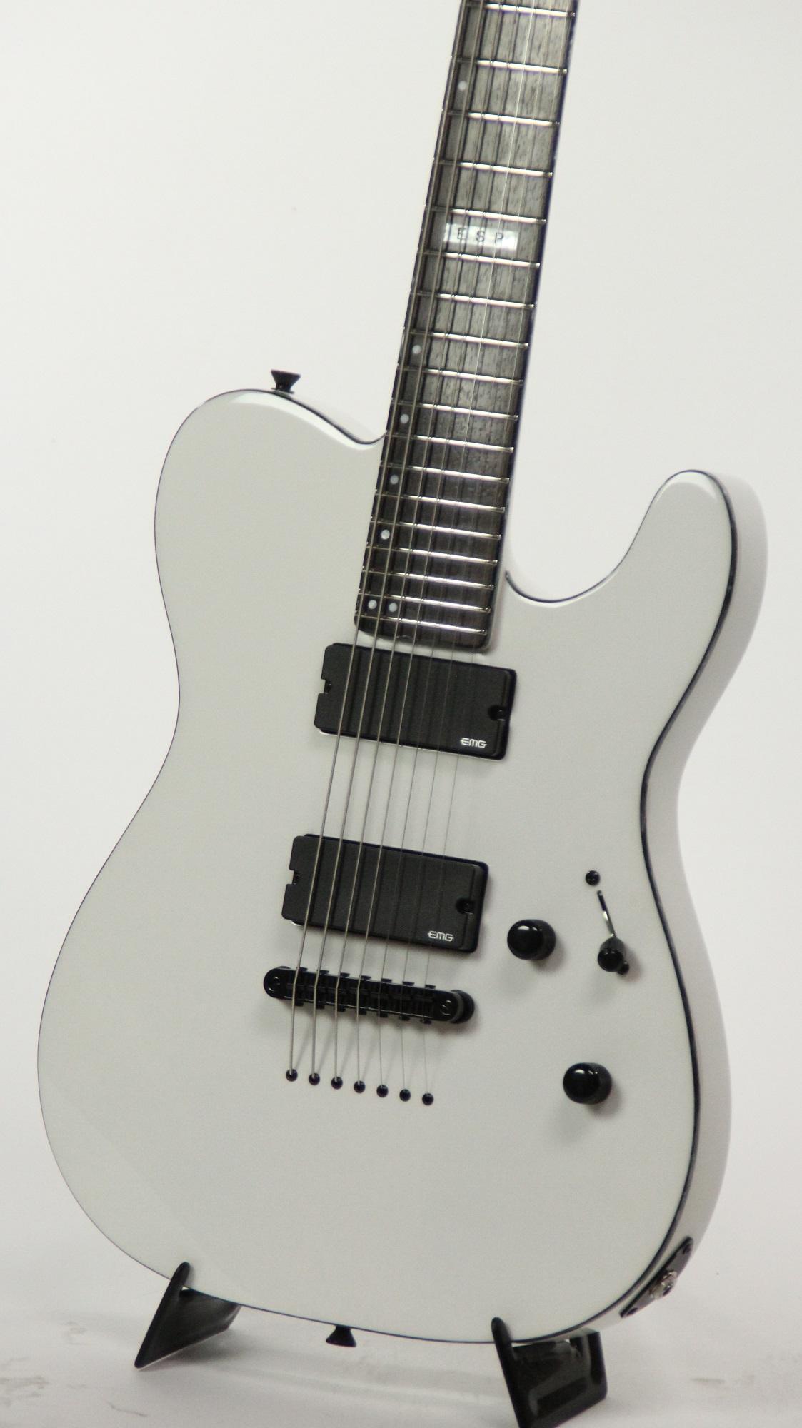 esp e ii te 7 tele snow white 7 string electric guitar w case ebay. Black Bedroom Furniture Sets. Home Design Ideas