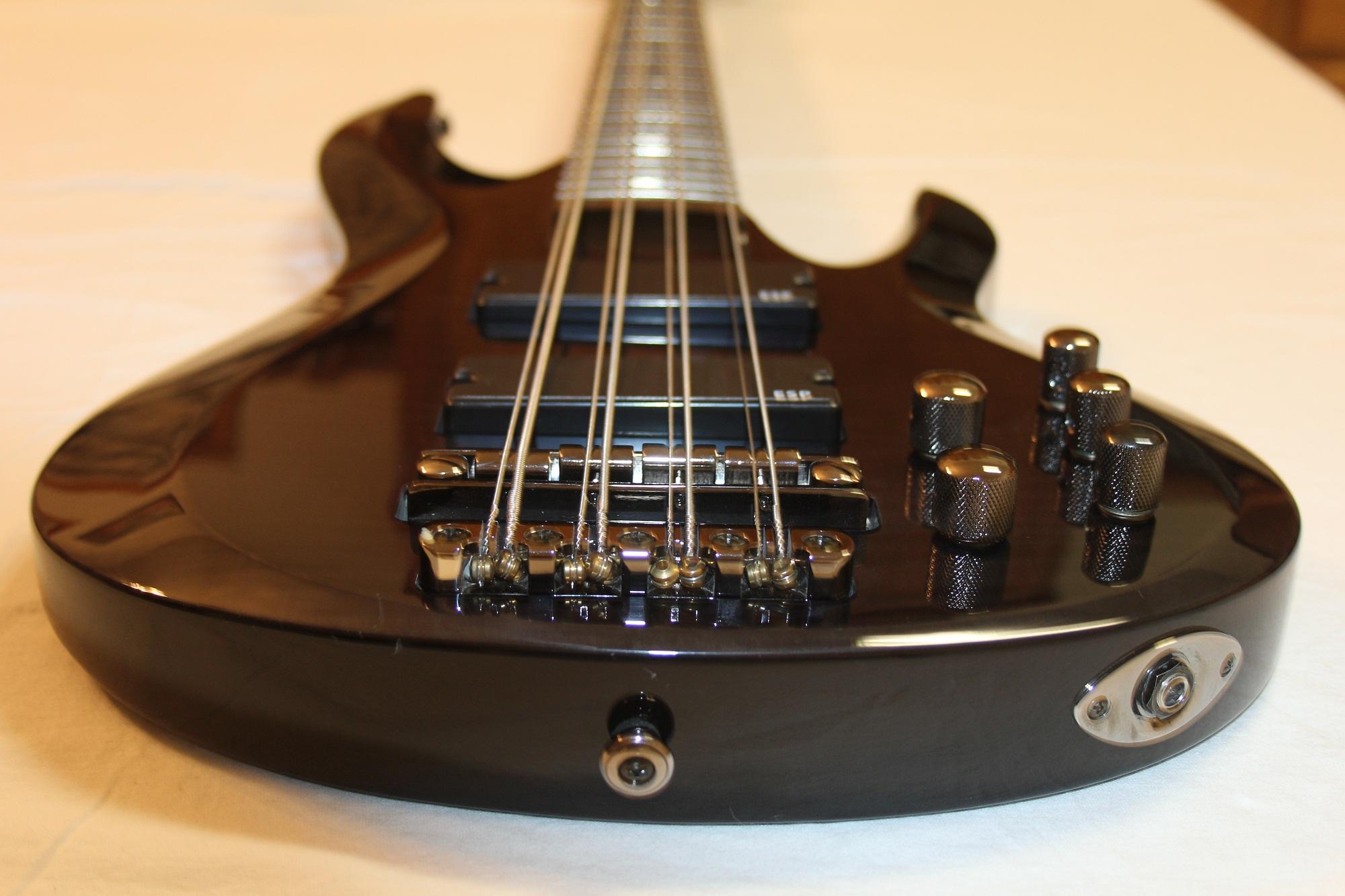 esp ltd b 208fm see thru black 8 string bass guitar 6. Black Bedroom Furniture Sets. Home Design Ideas