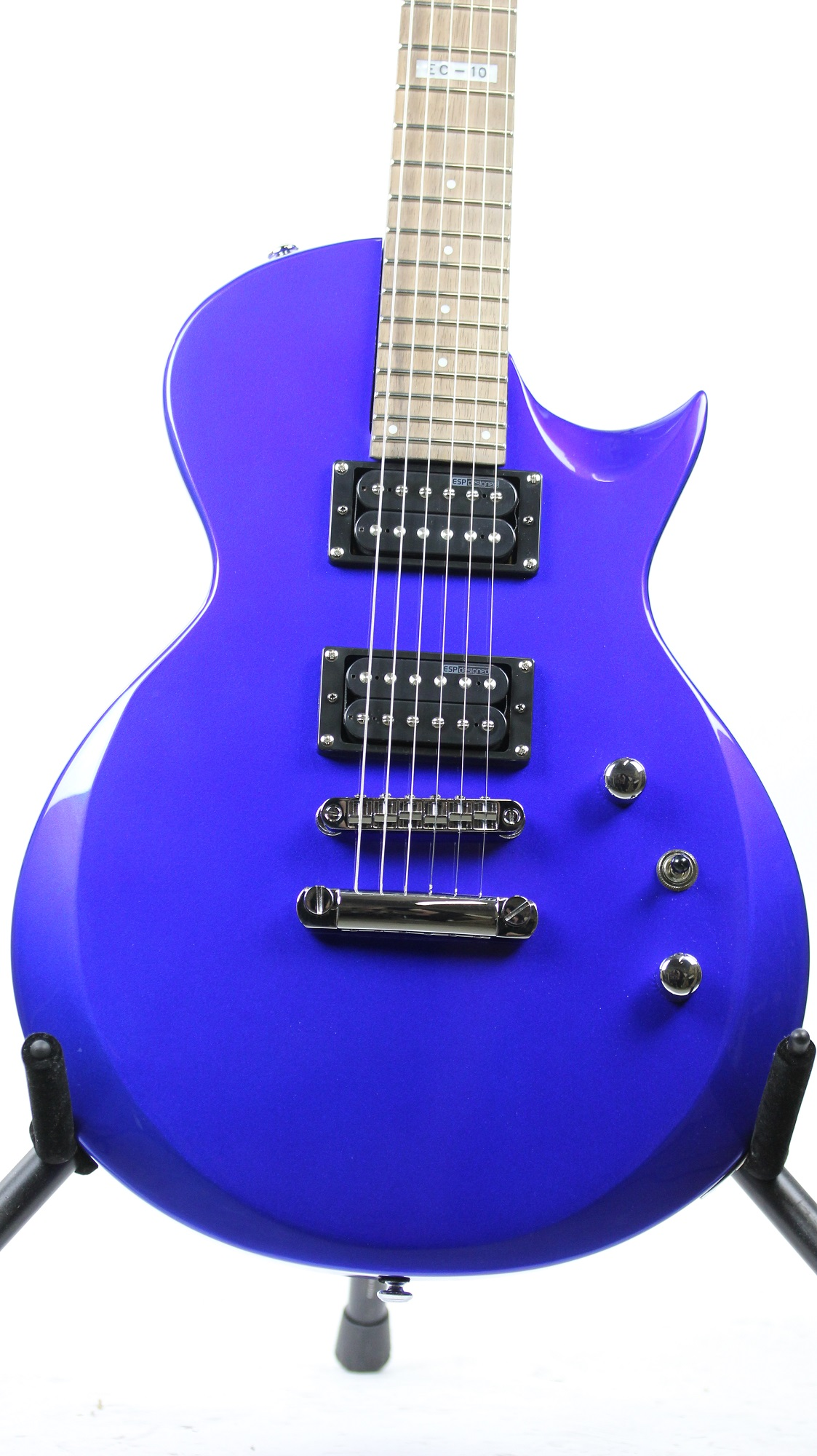 esp ltd ec 10 electric blue sample prototype electric guitar 6. Black Bedroom Furniture Sets. Home Design Ideas