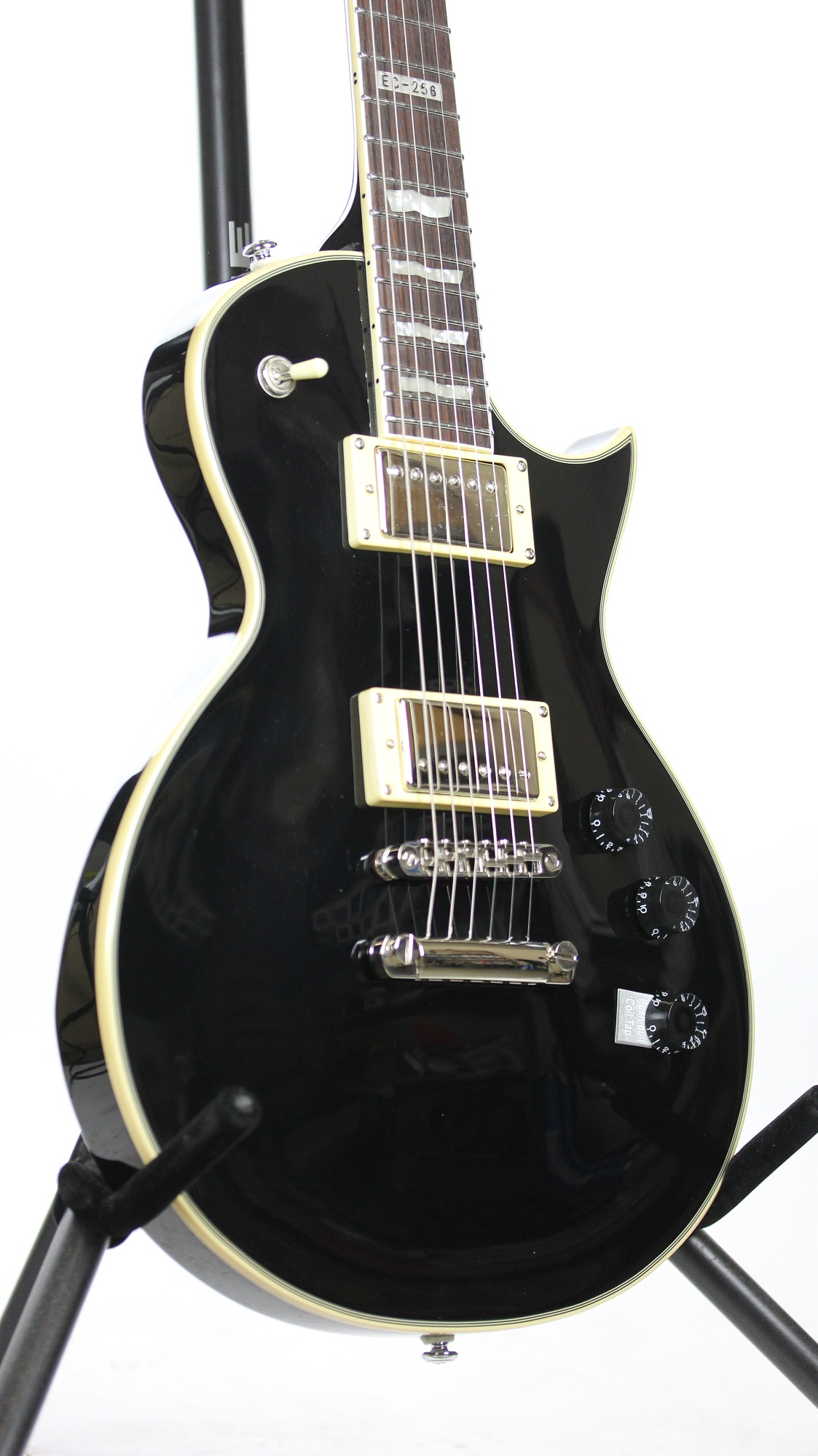 esp ltd ec 256 black sample prototype electric guitar 6. Black Bedroom Furniture Sets. Home Design Ideas