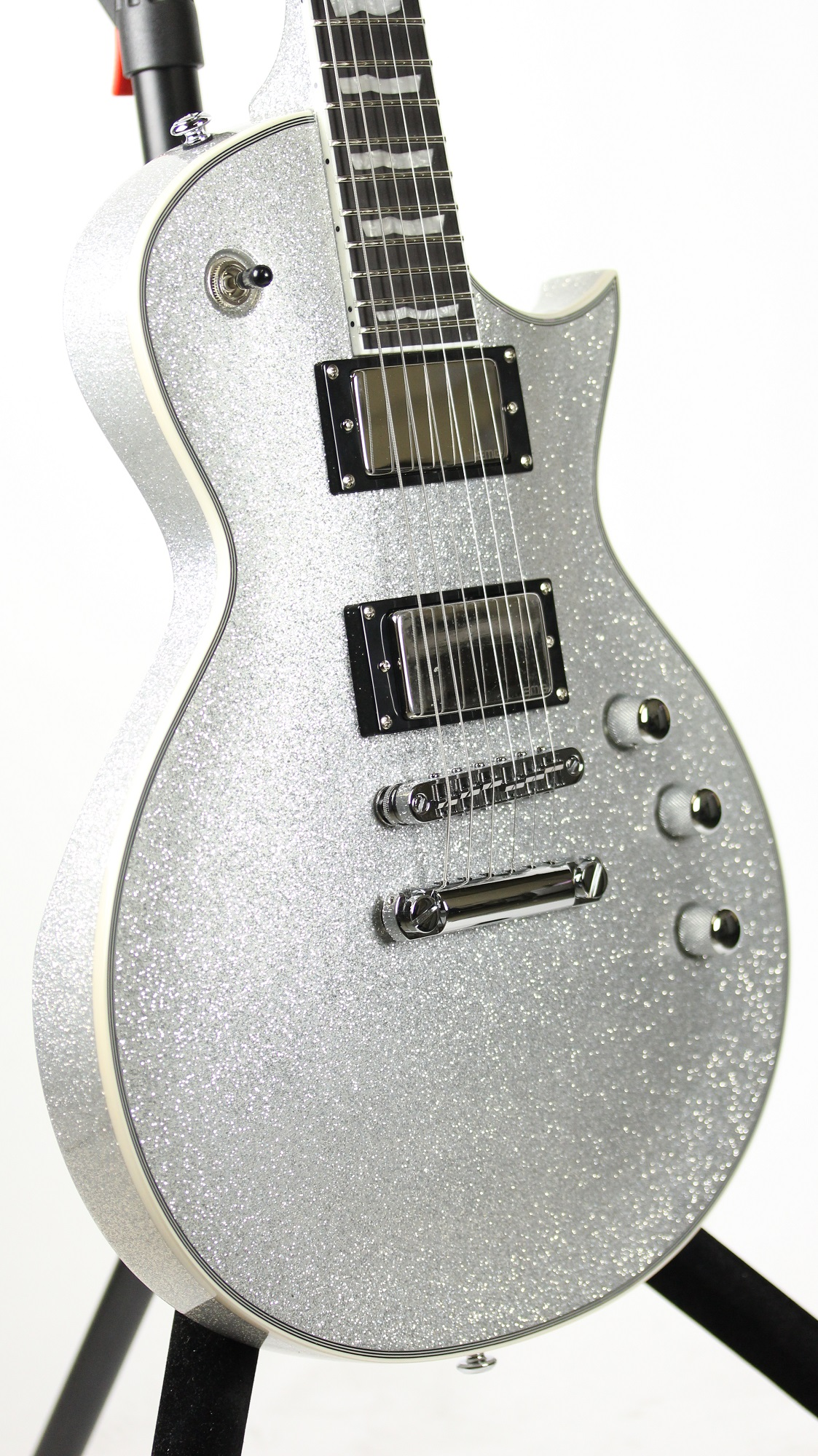 esp ltd ec 1000 ssp silver sparkle deluxe series electric guitar 6. Black Bedroom Furniture Sets. Home Design Ideas