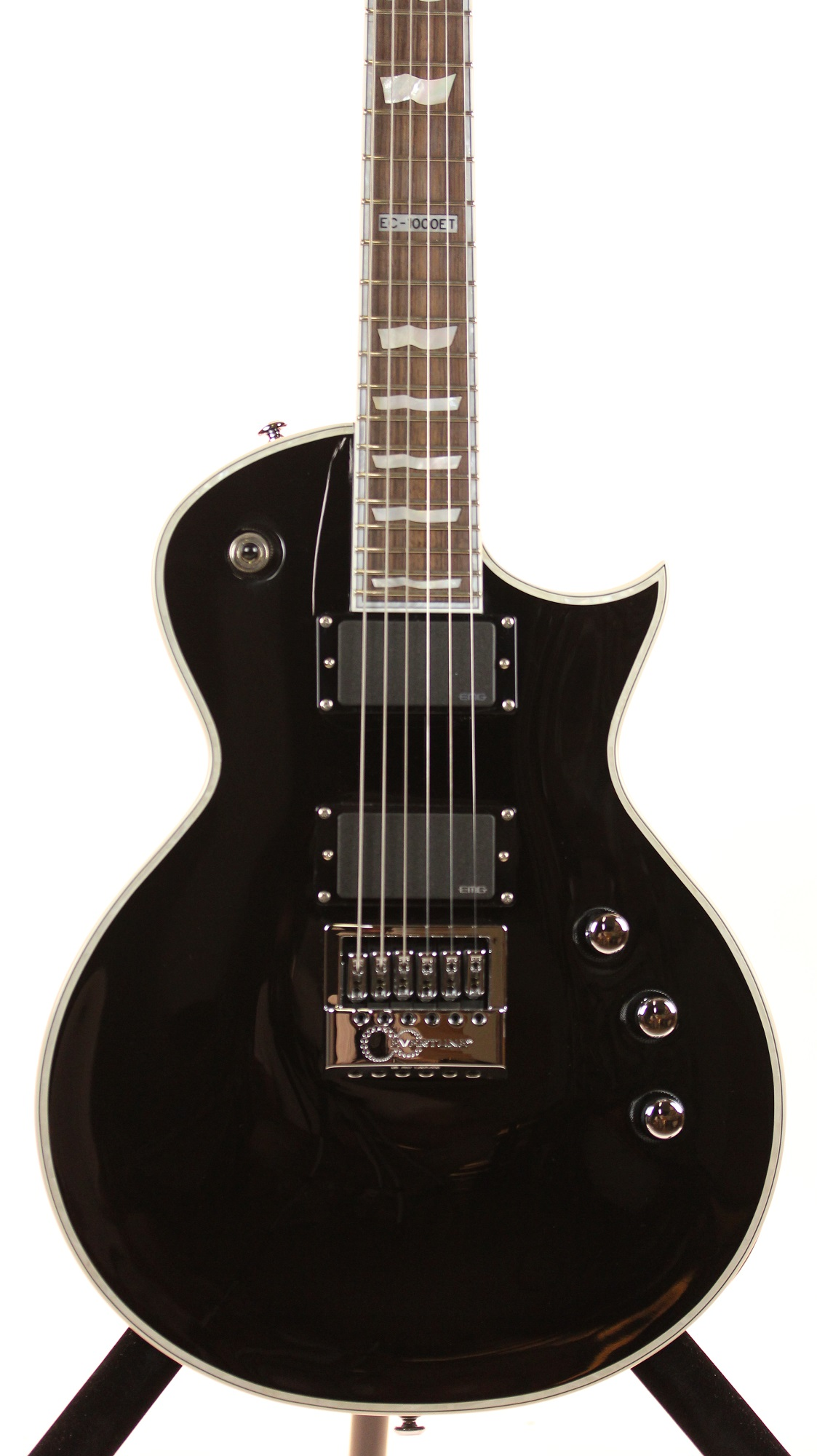 esp ltd ec 1000et black evertune bridge electric guitar 6. Black Bedroom Furniture Sets. Home Design Ideas