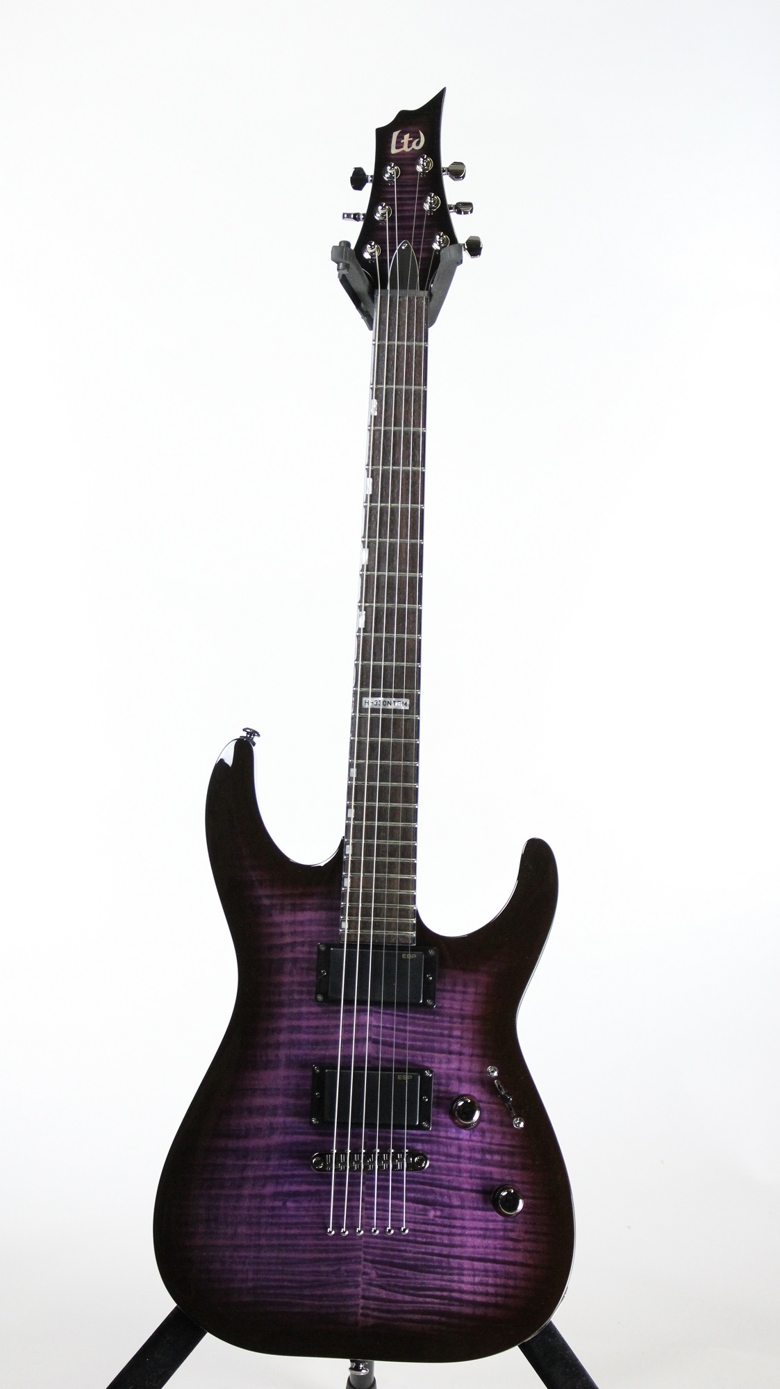 esp ltd h 330fm nt see thru purple sunburst sample prototype electric guitar 6. Black Bedroom Furniture Sets. Home Design Ideas