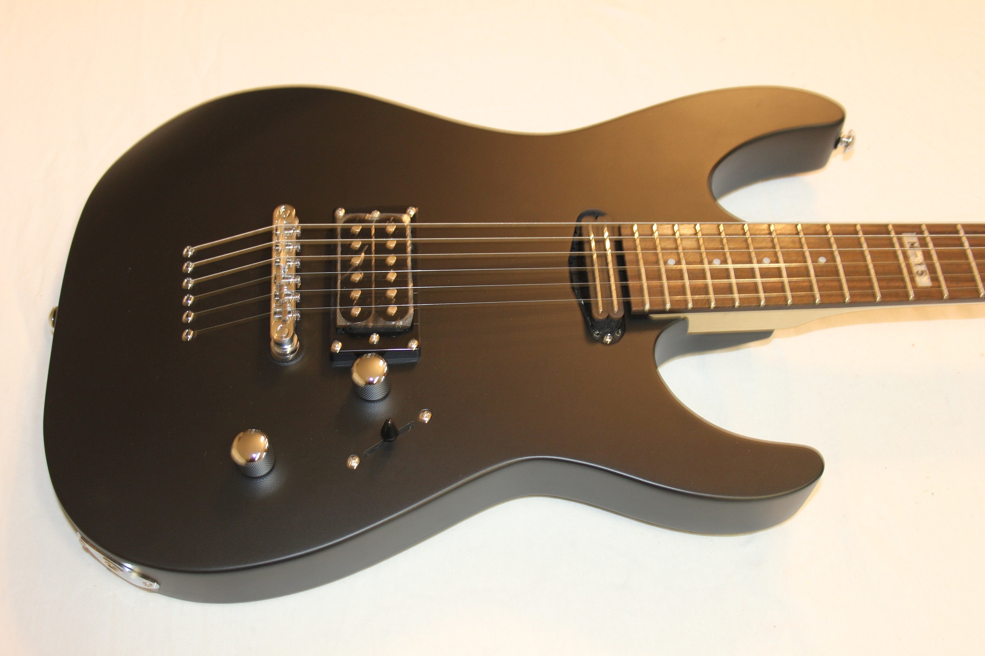 esp ltd m 15 black satin sample prototype electric guitar 6. Black Bedroom Furniture Sets. Home Design Ideas