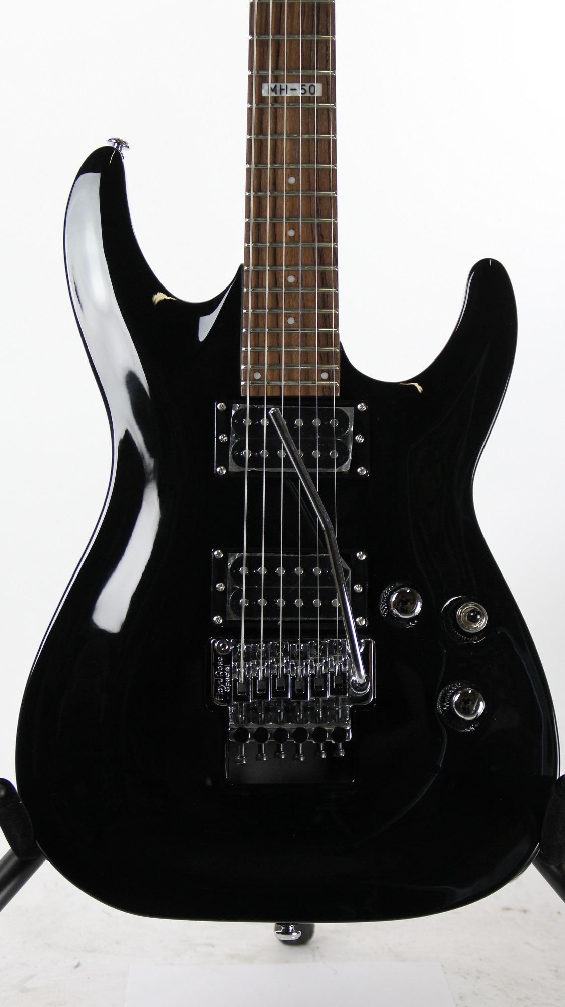 esp ltd mh 50 black sample prototype electric guitar 6. Black Bedroom Furniture Sets. Home Design Ideas