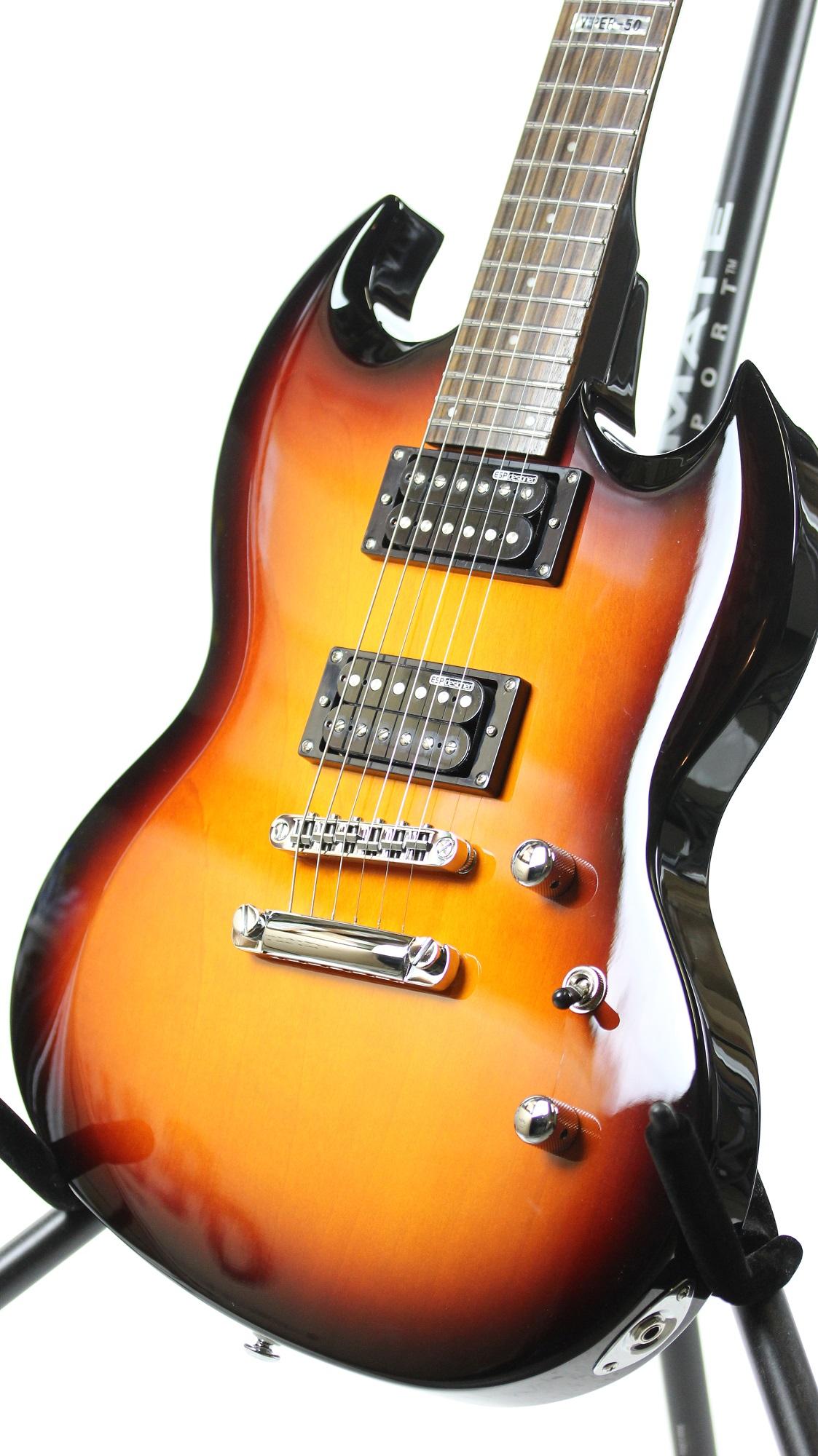 esp ltd viper 50 2 tone burst sample prototype electric guitar 6. Black Bedroom Furniture Sets. Home Design Ideas