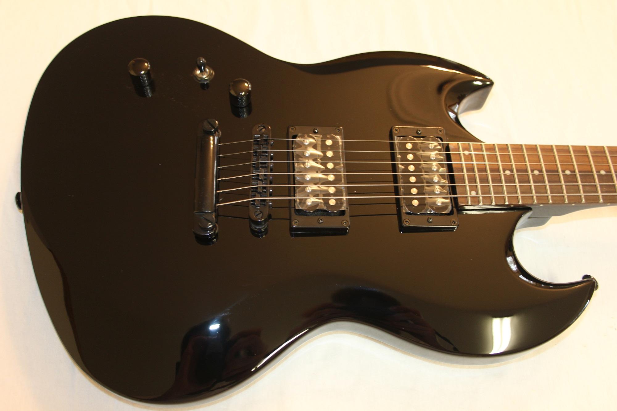 esp ltd viper 50 black left hand sample prototype electric guitar 6. Black Bedroom Furniture Sets. Home Design Ideas