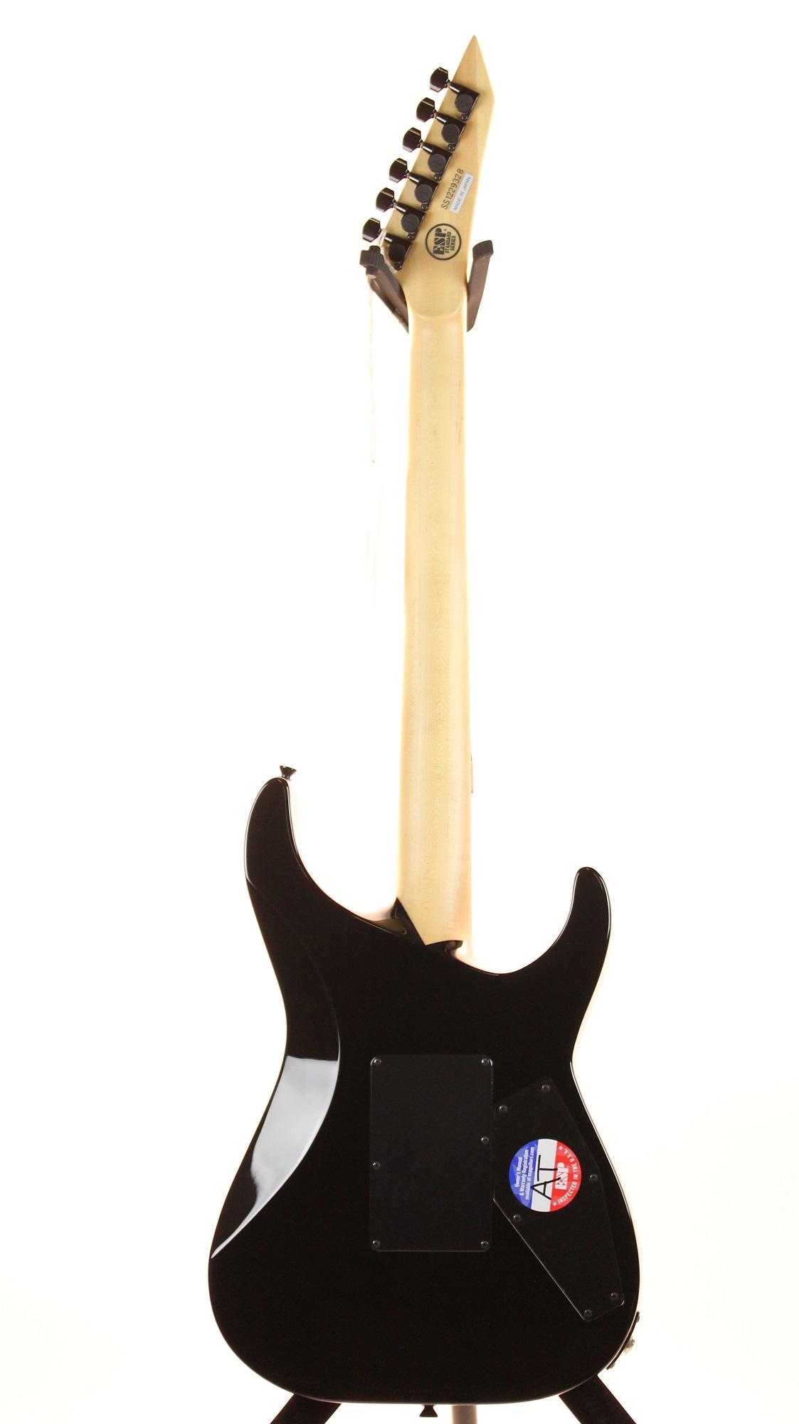 esp mii ntb black left handed electric guitar 6stringcom