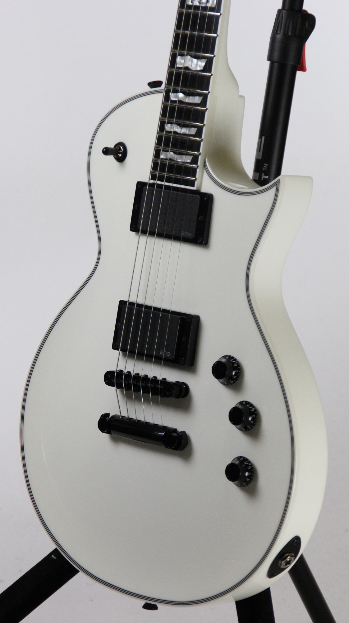 esp eclipse ii snow white electric guitar w case 6. Black Bedroom Furniture Sets. Home Design Ideas