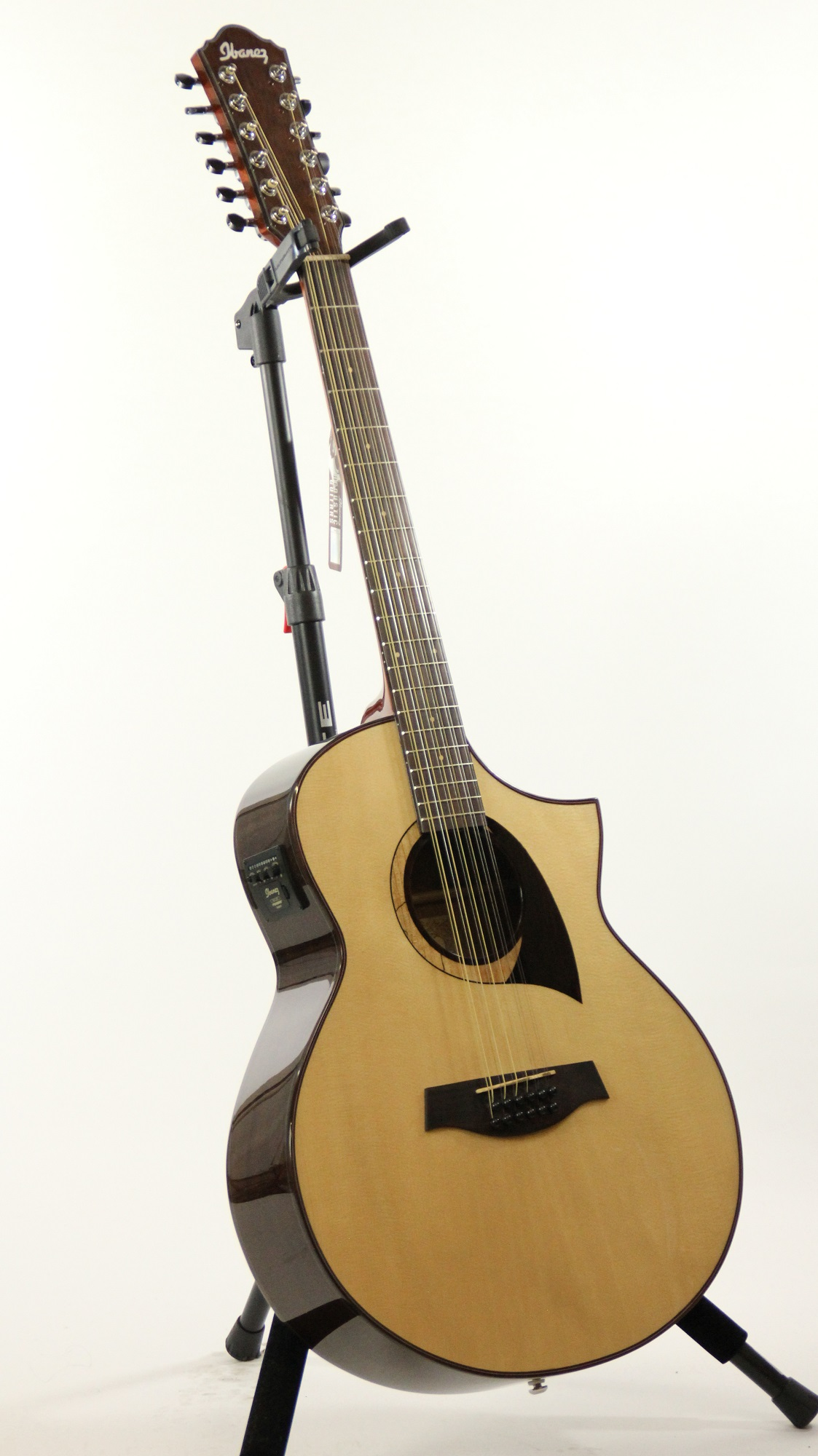 ibanez aew2212cd nt natural high gloss acoustic electric guitar 6. Black Bedroom Furniture Sets. Home Design Ideas