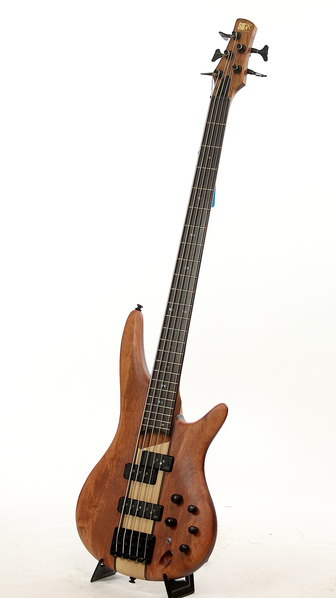 ibanez sr755 ntf natural flat electric bass guitar 6. Black Bedroom Furniture Sets. Home Design Ideas