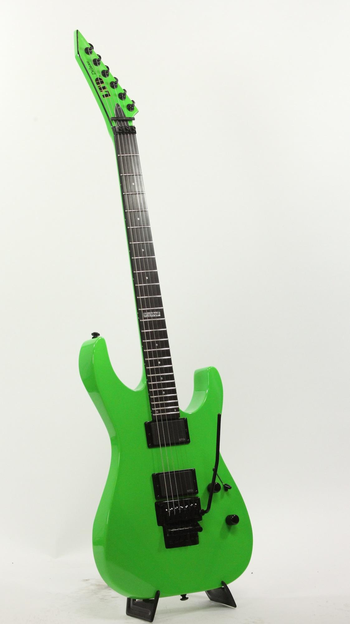 esp ltd m 1000 ng neon green electric guitar 6. Black Bedroom Furniture Sets. Home Design Ideas