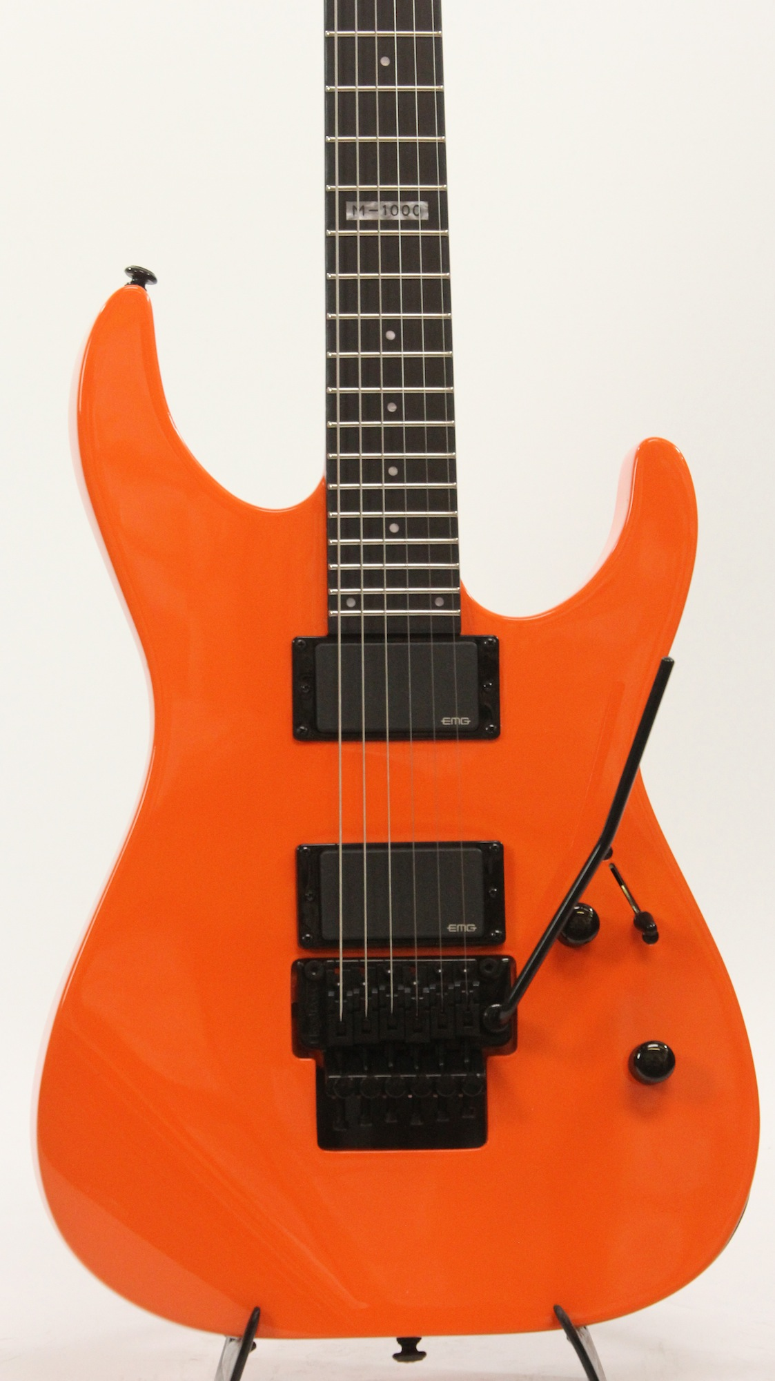 esp ltd m 1000 ggo gogo orange electric guitar 6. Black Bedroom Furniture Sets. Home Design Ideas