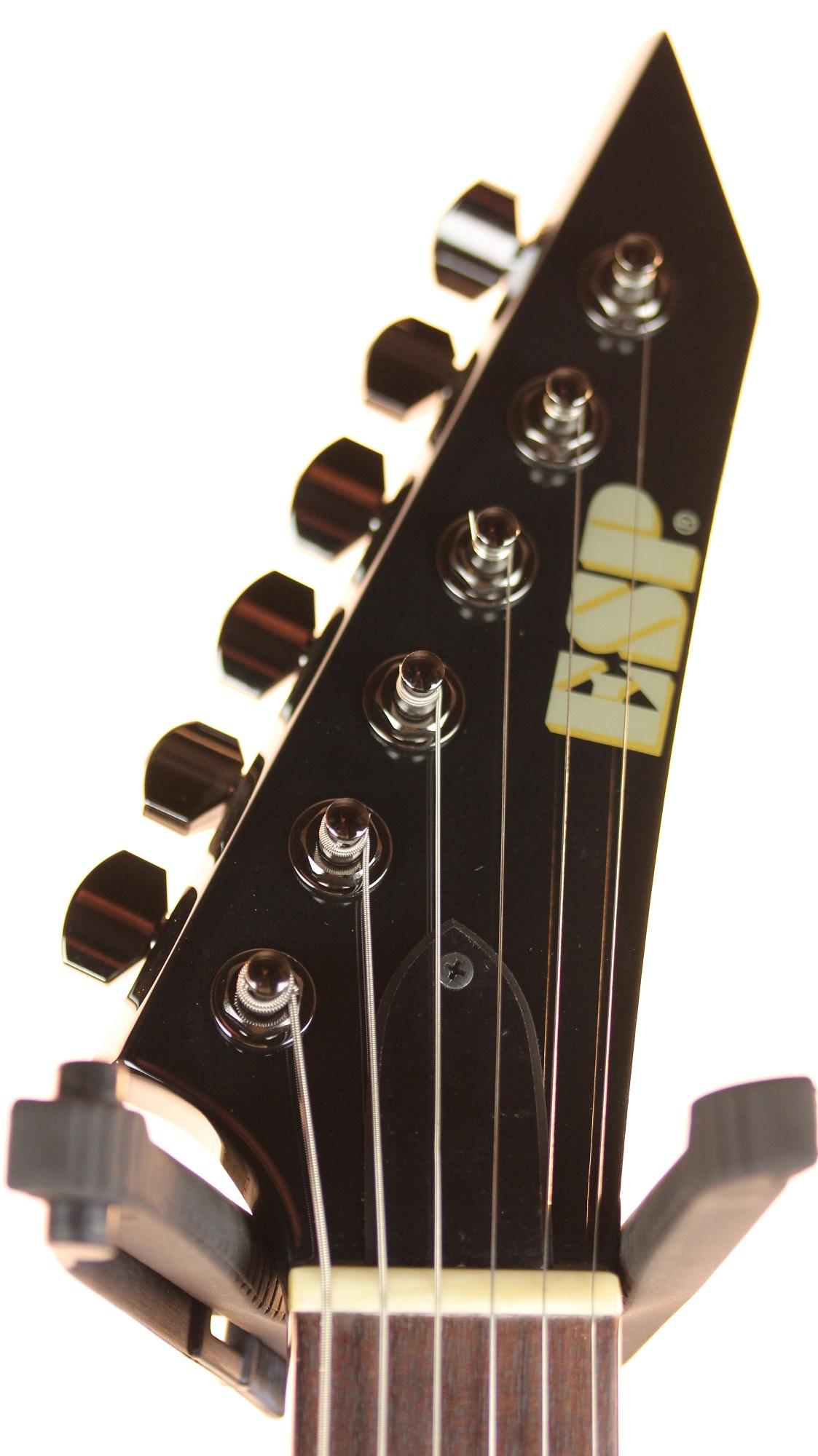 new esp ex standard black electric guitar with case brand new 6. Black Bedroom Furniture Sets. Home Design Ideas