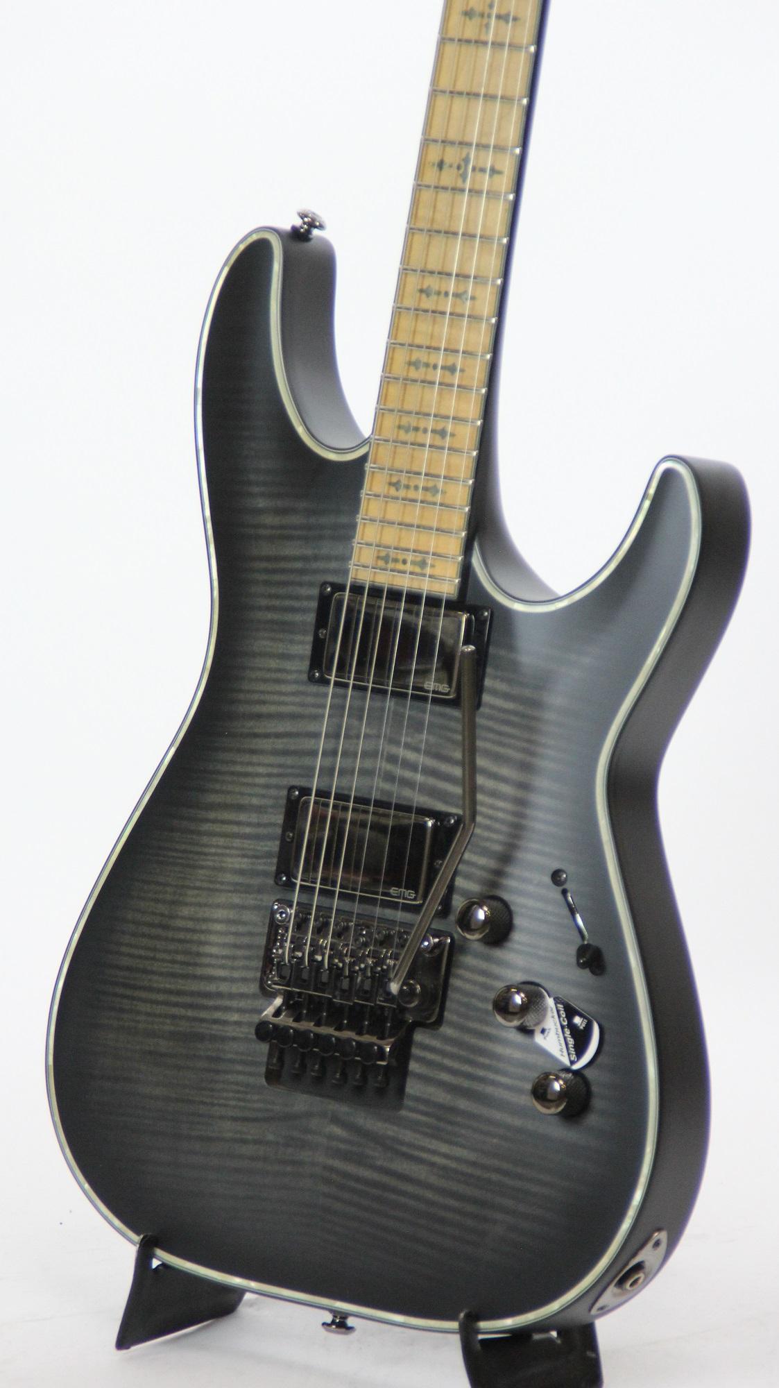 schecter hellraiser extreme c 1 fr m see thru black satin 1872 electric guitar 839212007251 ebay. Black Bedroom Furniture Sets. Home Design Ideas