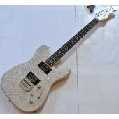 G&L ASAT Deluxe USA Custom Made Guitar in Silver Flake 102039