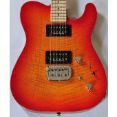 G&L ASAT Deluxe USA Custom Made Guitar in Cherryburst Finish