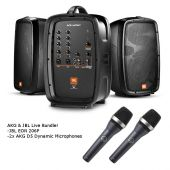 JBL EON206P Portable PA and Mixer / AKG D5 Dynamic Microphone Live Sound Bundle EON206P-D5