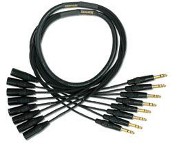 Mogami Gold 8 TRS-XLRM Cable 10 ft.