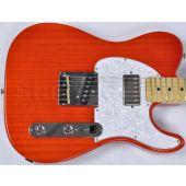 G&L ASAT Classic Bluesboy USA Custom Made Guitar in clear orange empress body